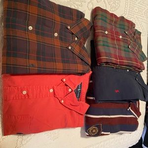Lot of 5 polo Ralph Lauren LS XL casual shirts